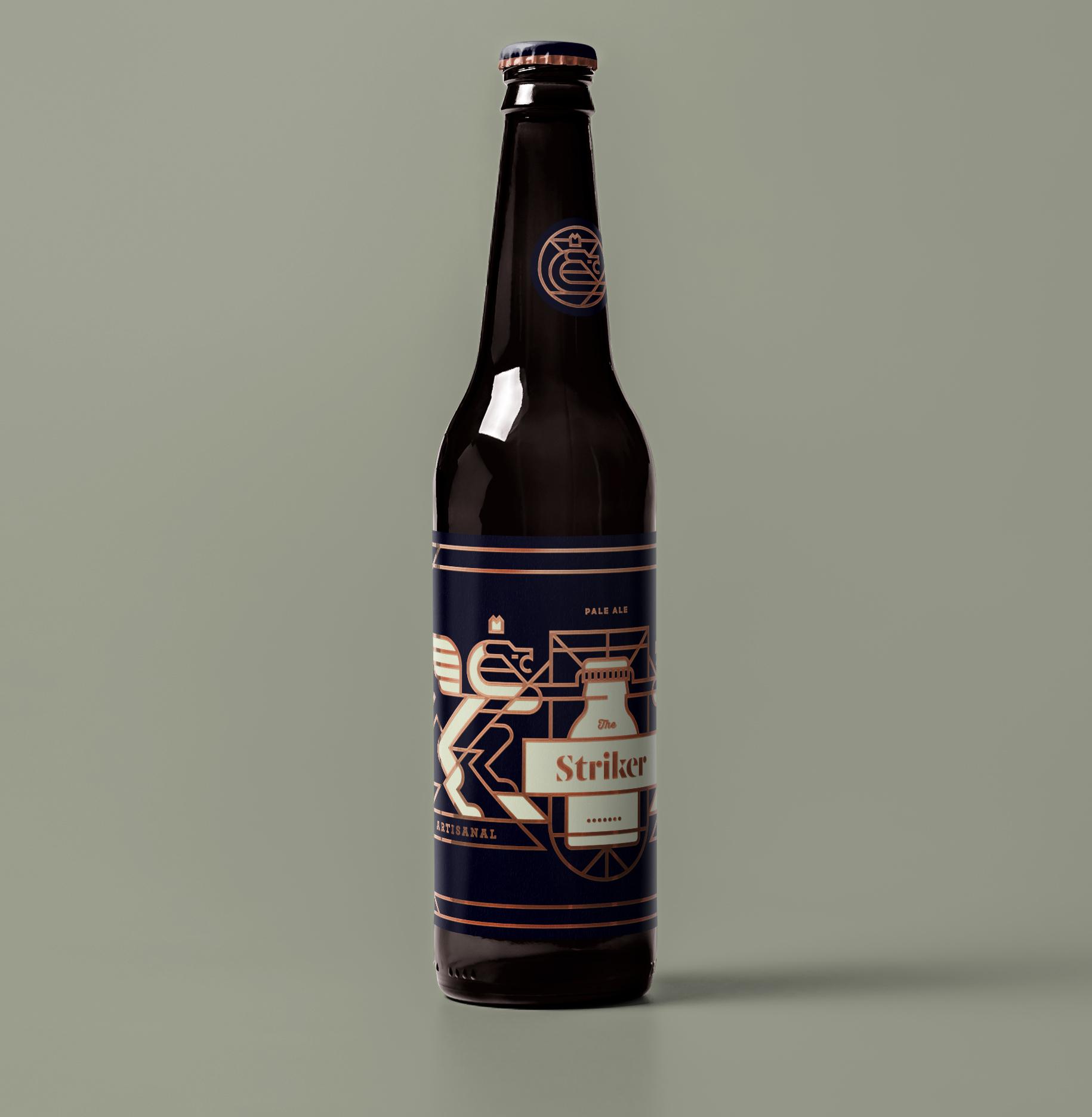 beer bottle design full branding graphic design