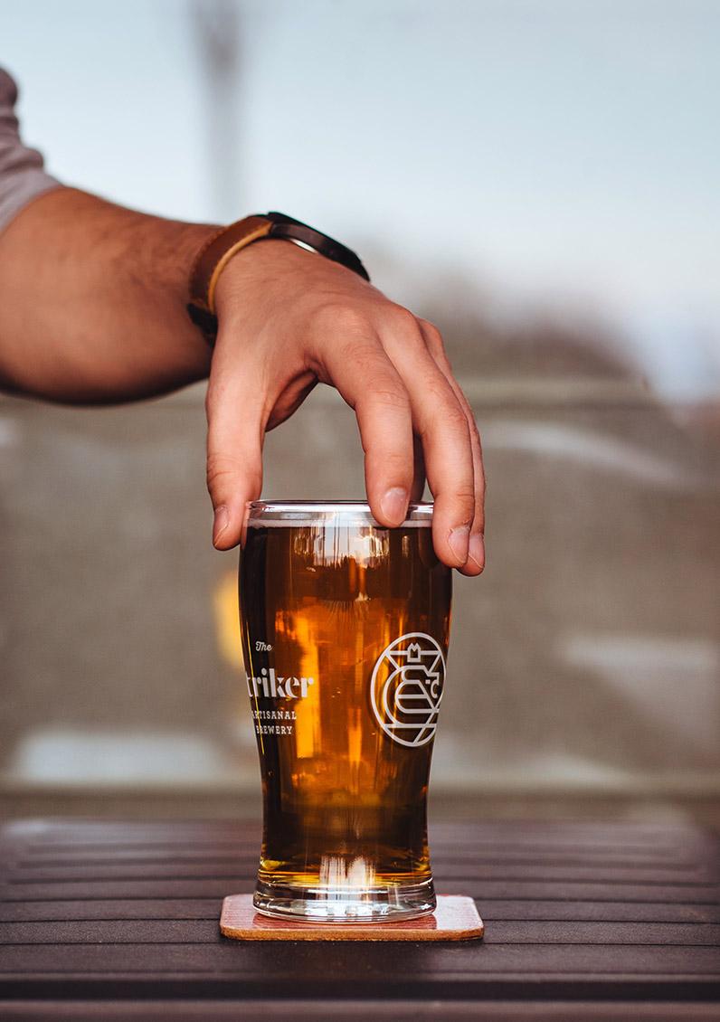 beer glass design ful branding