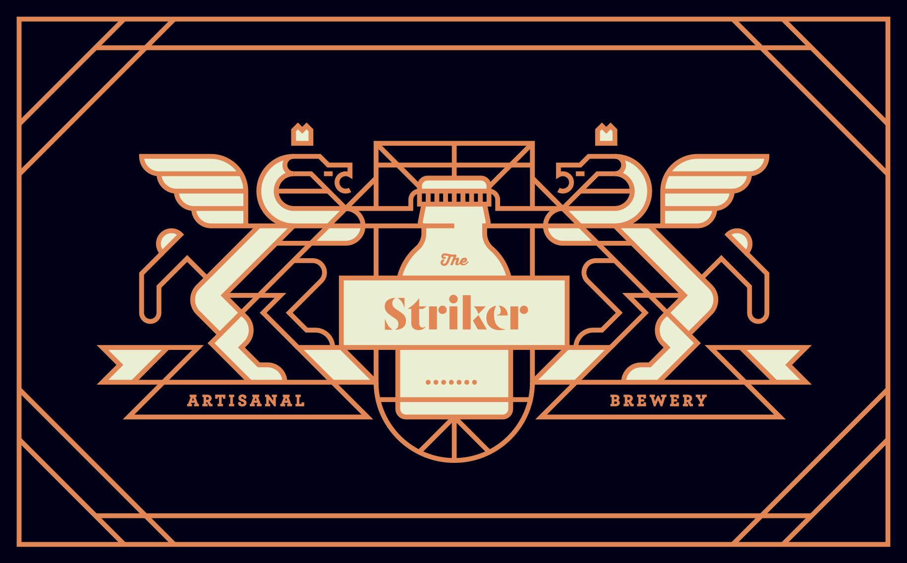design branding of beer label