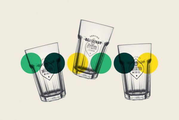 branded glasses for foodtruck