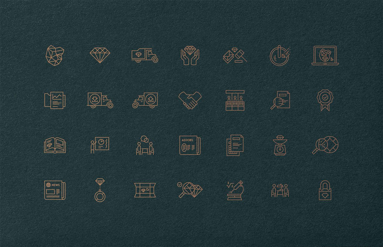 antwerp world diamond centre icon design