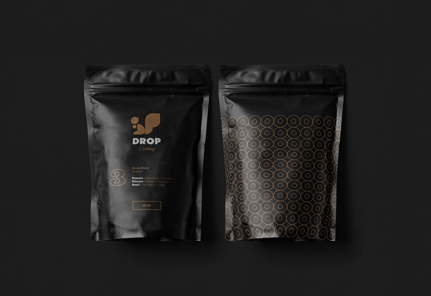 packaging design presentation coffee