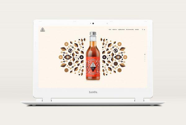 sampa branding of the website - graphic design