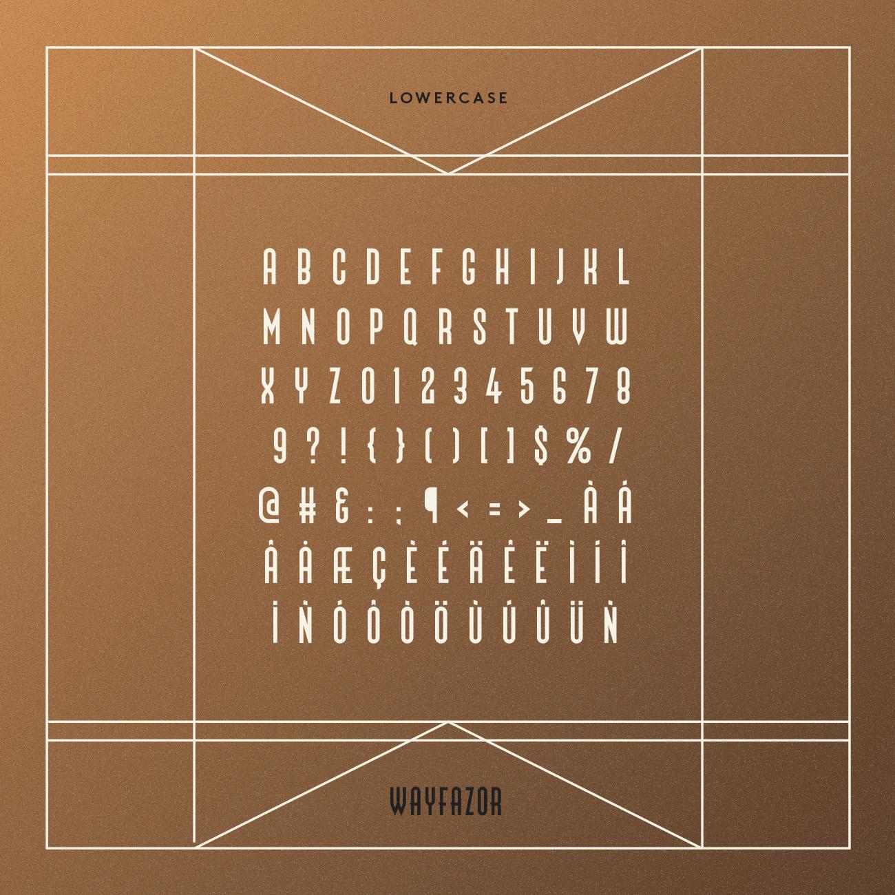 wayfazor display retro font type